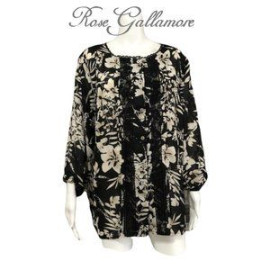 TanJay Floral Blouse